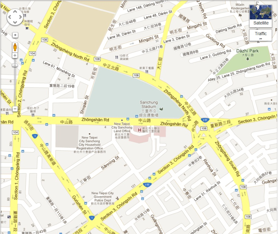 Sanchong Branch English map and directions